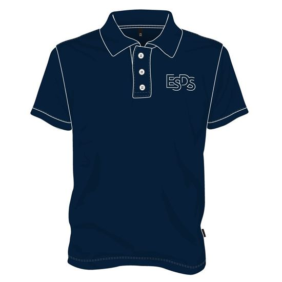 Image sur Polo (100% polyester)  avec boutons  Marine