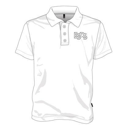 Image de Polo (100% polyester) avec boutons  (Blanc)