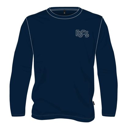 Picture of Long-sleeved round neck sweater (Navy) (100% cotton)