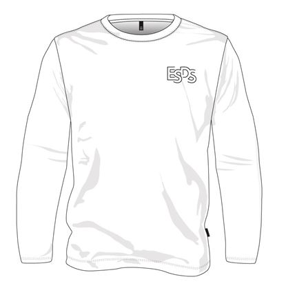 Picture of Long-sleeved round neck sweater (White) (100% cotton)