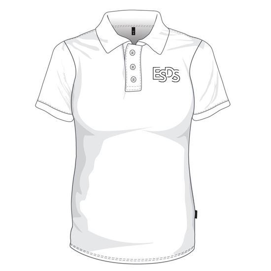 Picture of Polo Shirt (100% polyester) with Buttons (White)