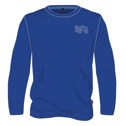 Picture of Long-sleeved round neck sweater - Gym (Royal blue) (100% polyester)