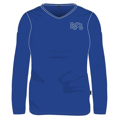 Picture of Long-sleeved V neck sweater - Gym (Royal blue) (100% polyester)